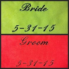 A personal favorite from my Etsy shop https://www.etsy.com/listing/233021184/bride-and-groom-embroidered-set-of-two