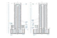 O 14 Tower by Reiser + Umemoto in Dubai, United Arab Emirates