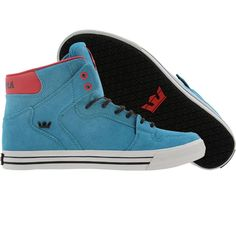 Supra Vaider High shoes in blue and white