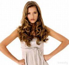 curly hair style for long hair
