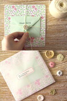 DIY Bridesmaid Thank You Cards from Amy Moss [Eat Drink Chic] #tutorial #wedding #project