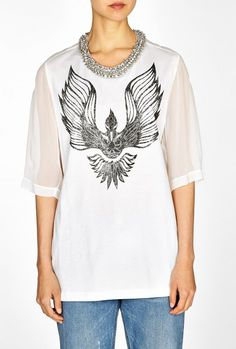 Laundered Cotton Jersey Oversize T-shirt