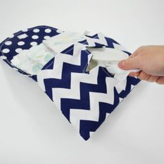 Navy Chevron Diaper and Wipe Clutch by MarshMueller on Etsy, $25.00