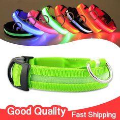 LED Flashing Light Dog Collar