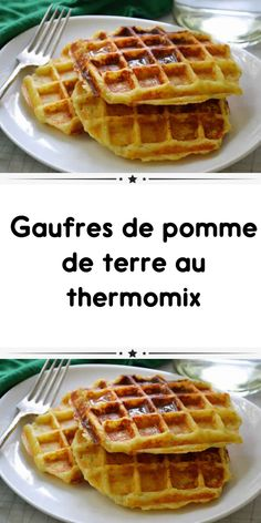 Potato waffles with thermomix a delight to impress your guests during a brunch. So easy to prepare here is the thermomix recipe. Easy Waffle Recipe No Milk, Waffle Recipes, Potato Waffles, Crepes And Waffles, Thermomix Desserts, Dessert Recipes, Cake Recipes, Homemade Waffles, No Salt Recipes