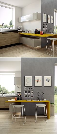 Kitchen:New Modern Kitchen Layout Styles And Interior Designs Colors Backsplash Countertops Island Remodels Small House Space Ikea Yellow Countertop Beautiful Kitchen Interior Styles with Modern Flair with Countertops and Backsplash Design Ideas Kitchen Corner, New Kitchen, Kitchen Ideas, Kitchen Wood, Kitchen Modern, Kitchen Designs, Kitchen Yellow, Kitchen Grey, Modern Kitchens