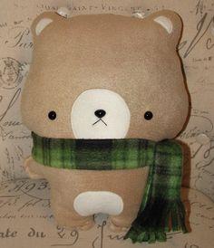 Stuffed Teddy Bear with Scarf