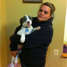 Blu with his new mom! 5-5-12