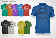 Polo Shirt Templates // Unlimited color options with just 2 mouse clicks