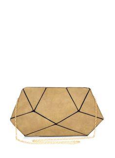 geometric-clutch BEIGE - GoJane.com