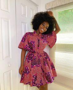 Short African Dresses, Latest African Fashion Dresses, African Print Dresses, African Print Fashion, Ankara Fashion, Africa Fashion, African Prints, African Fabric, Tribal Fashion