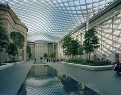 The Kogod Courtyard at the Smithsonian Reynolds Center for American Art and Portraiture by landscape architects Gustafson Guthrie Nichol
