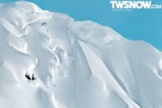 Travis Rice riding a big sluff (or a small avalanche depending how you look at it)