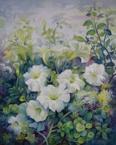 Painting - Spring In The Soul by Elena Oleniuc , Wonderful Flowers, Botanical Prints, Flower Art, Oil On Canvas, Glass Art, Spring, Oil Paintings, Artworks, Google