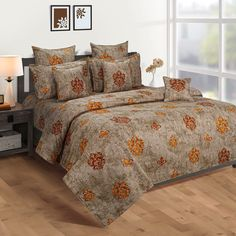Flat 30% Off on Medallion Color Print Zinnia Bed in a Bag Set Online at best prices. #bedsheetset #bedfittedsheets #beddingsetsonline #cottonbeddingsets #acbeddingsets #summerbeddingsets Bed Sheet Sets, Bed Sheets, Wooden Street, Cotton Bedding Sets, Bed In A Bag, Bedding Sets Online, Amazing Spaces, Bedding Shop
