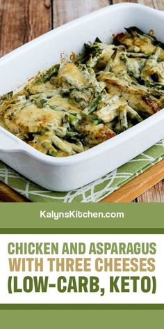 Healthy Chicken Recipes, Keto Recipes, Dinner Recipes, Keto Chicken, Baked Chicken, Chicken Asparagus, Asparagus Recipe, Asparagus Casserole, Healthy Eating