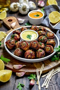 One of my go-to easy party recipes: Smoky Bacon-Wrapped Baby Potatoes via FoodPorn on May 15 2019 at Humble Potato, Best Bacon, Easy Party Food, Popsugar Food, Baby Potatoes, Appetizers For Party, Appetizer Ideas, Appetizer Recipes, Bon Appetit