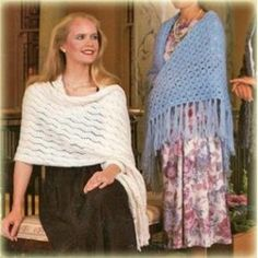 Shawls Capes Stoles Knit Crochet Patterns Flower Popcorn Dot Stitch +