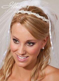 Wedding Headband With Ribbon