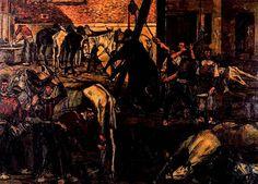 El desolladero. Patio de caballos- Jose Gutierrez Solana