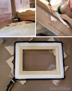 Make your own GIANT picture frame using trim pieces! {Sawdust and Embryos}