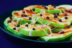 Apple Nachos! ...LOVE APPLES! SUCH AN AMAZING         HEALTHY ALTERNATIVE TO DESSERT!