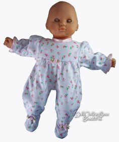 c84dd27bcfd 15 Inch Baby Doll Pajamas Sophia s Floral Print Sleeper for Bedtime   for  sale online