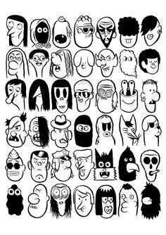 // Libro e xogo de pins publicado por Valley Cruise Press (Los Angeles, // Book and set of pins released by Valley Cruise Press (Los Angeles, Graffiti Art, Graffiti Lettering Fonts, Graffiti Cartoons, Graffiti Characters, Graffiti Drawing, Art Drawings, Drawing Cartoon Faces, Cartoon Art Styles, Cartoon Clip