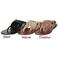 a3e2ac2df2e8 Steve Madden Women s  Studdlyy  Fringe Flat Sandals