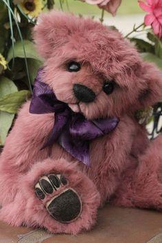 OOAK ANGORA RABBIT FUR TEDDY BEAR ARTIST ORIGINAL KIMBEARLY'S #AllOccasion