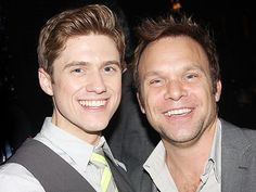 Aaron Tveit and Norbert Leo Butz. There is so much perfection in this picture, its ridiculous