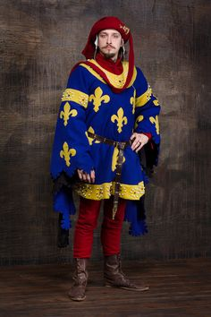 Heraldic medieval gown Europe 14th century by RoyalTailor on Etsy