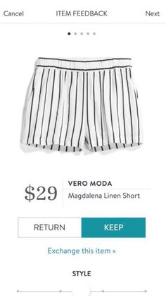 These shorts are awesome! love the elastic and that the stripes run vertical. The black and white is great too!