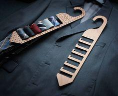 Wood Tie Rack Custom Wood Tie Rack Personalized Tie Rack