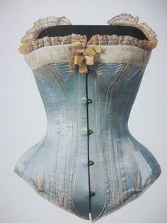 1880s blue corset