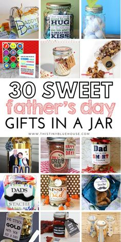 here are 30 thoughtful DIY Father's Day Gifts In A Jar that are not only adorable but the best way to let dad know how much he means to you. Cheap Fathers Day Gifts, Homemade Fathers Day Gifts, Diy Father's Day Gifts, Father's Day Diy, Fathers Day Crafts, Cheap Gifts, Homemade Gifts, Gifts For Dad, Dad Crafts