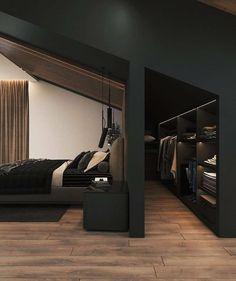Design Your Dream House, House Design, Black Interior Design, Extra Bedroom, Loft Interiors, Bedroom Layouts, Bespoke Furniture, Interiores Design, Modern Bedroom