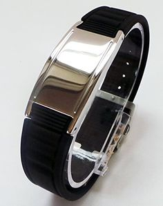 From 11.99 27 Styles And Colours To Choose From Highest Quality Guaranteed Power Balance Energy Magnetic Germanium Bracelet / Energized Exclusive Magnet / Negative Ion / Health Bracelet - Certified - With Titanium Germanium Ceramic Tourmaline (negative Ions) - All Sizes All Colours On Drop Down Menu (style - P1 Black Adustable - One Size Fits All)