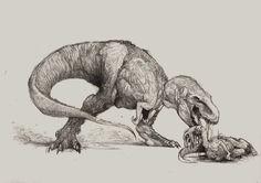 Rex is hungry. by Zombiraptor.deviantart.com on @DeviantArt