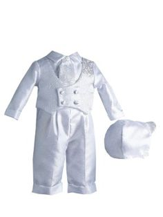 Lauren Madison Baby boy Christening Baptism Infant Shantung Pant With Vest:Amazon:Clothing