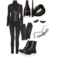 """Cozy Goth"" by theeverydaygoth on Polyvore"