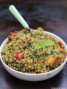 Salade de boulghour façon taboulé (tomates cerises, persil, menthe, oignon