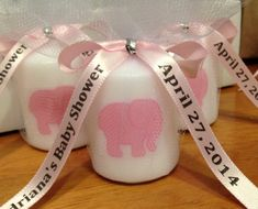 An Elephant Baby Shower Or Birthday Wouldnt Be Complete Without These  Adorable Glass Milk Bottles With Cute Pink Elephant Themed Labels!