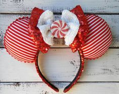 Peppermint Candy Christmas Ears