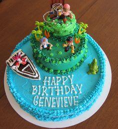 Jake and the Neverland Pirates 3 layer cake