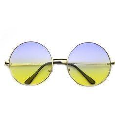 Retro Hippie Oversize Round Color Gradient Lens Sunglasses 9578 (309.720 VND) ❤ liked on Polyvore featuring accessories, eyewear, sunglasses, oversized round sunglasses, round lens sunglasses, hippie sunglasses, circle sunglasses and retro sunglasses