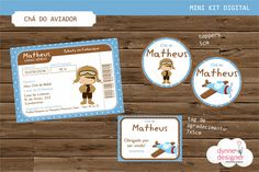 Mini Kit Digital - Chá do Aviador | Dynne Designer | Elo7