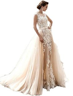 9c47d98c67b82 Check out our picks for the Kevins Bridal Vintage Lace Mermaid Wedding  Dresses Bridal Gowns Cap Sleeves For Bride from the popular stores ...