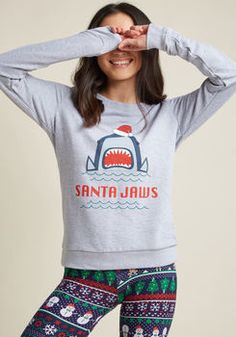 Santa Jaws Graphic Sweatshirt