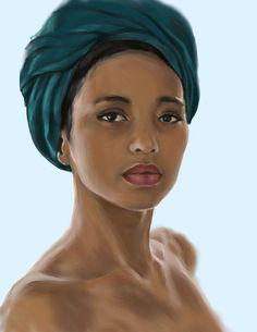 African Art Of Women | fuckyeablackart:African study by ~nienorTo see more Art of Black Women ...